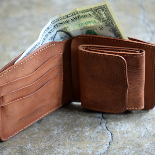 Roberu Bifold Shading Leather Wallet