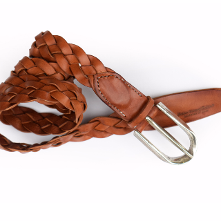 Roberu Shading Leather Braided Belt