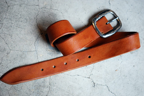 Roberu Silver Buckle Leather Belt