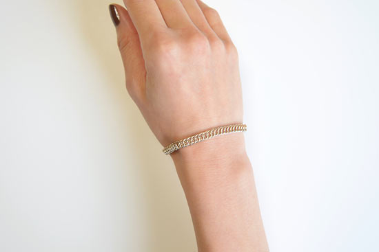 eN Silver & Gold-Filled Half Persian Bracelet