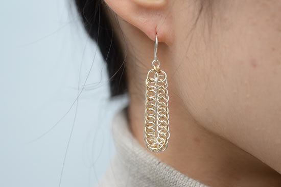 eN Silver & Gold-Filled Half Persian Pierced Earring