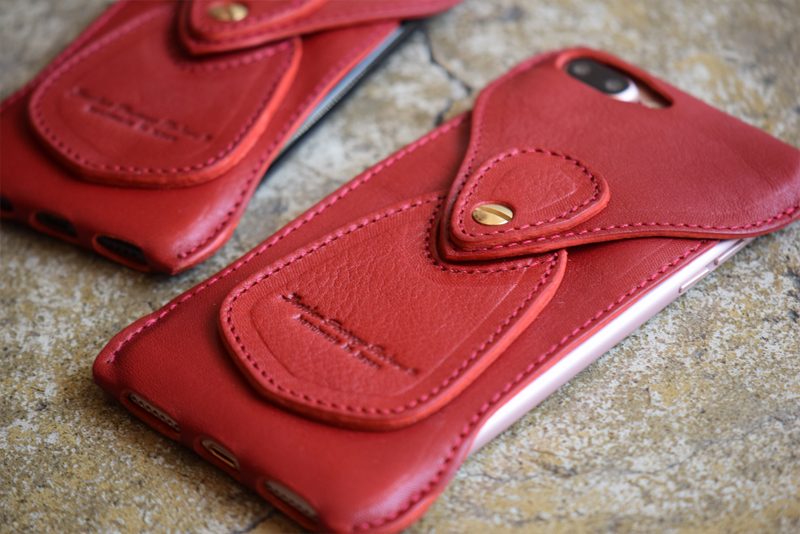 Roberu iPhone 7 / 7 Plus Vachetta Red Leather Case