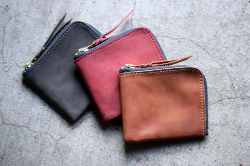 Roberu Zip Shading Leather Wallet