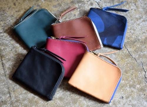 Roberu Zip Square Leather Wallet